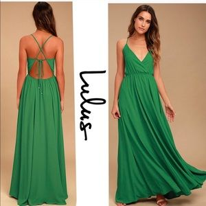 Lulu's Everything's All Bright Green Maxi